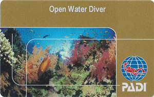 PADI Certification Card