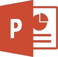 PowerPoint 2016 logo.