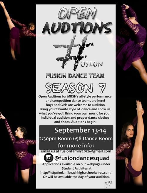 Fusion Auditions 2018