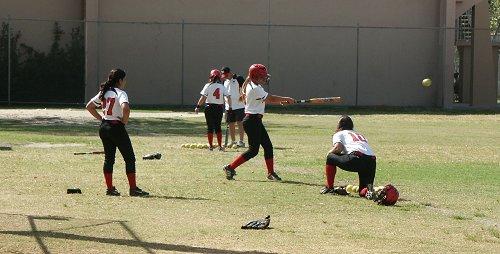 Soft toss practice