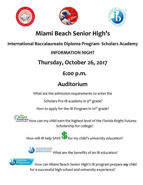 Miami Beach Senior High Scholars Program